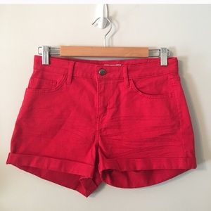 H&M red jeans women's shorts